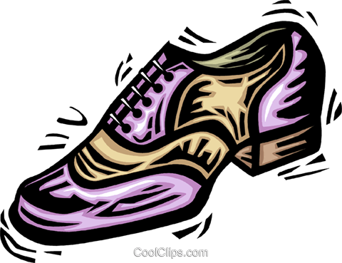 dress shoe Royalty Free Vector Clip Art illustration vc063966