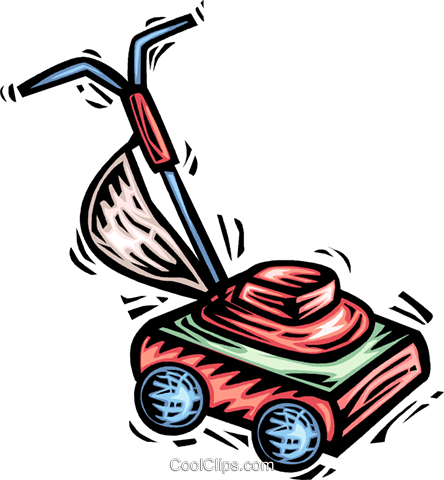 Lawnmowers Royalty Free Vector Clip Art illustration vc063971