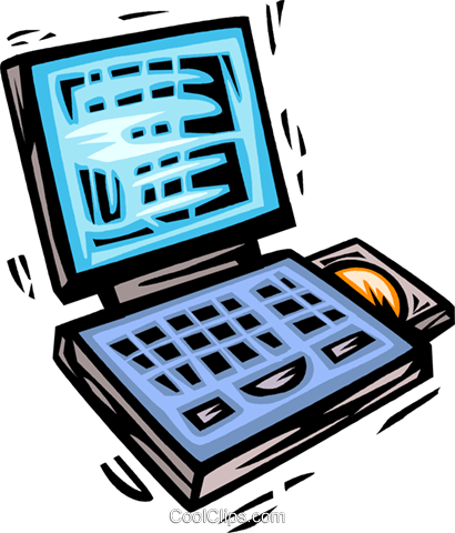 Laptops and Notebook Computers Royalty Free Vector Clip Art illustration vc063972