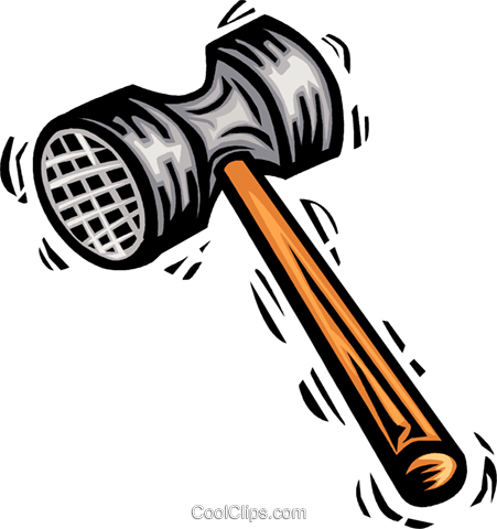Hammers Royalty Free Vector Clip Art illustration vc063975
