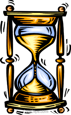 hourglass Royalty Free Vector Clip Art illustration vc063978
