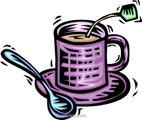 Teacups Royalty Free Vector Clip Art illustration vc063984