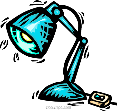 Desk Lamps Royalty Free Vector Clip Art illustration vc063994