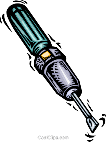 Screwdrivers Royalty Free Vector Clip Art illustration vc064013