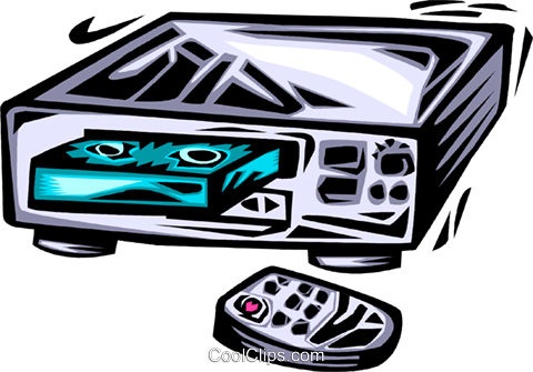 Videotape Recorders Royalty Free Vector Clip Art illustration vc064029