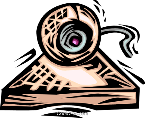 computer camera Royalty Free Vector Clip Art illustration vc064033