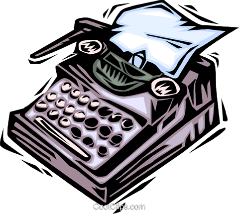 Typewriters Royalty Free Vector Clip Art illustration vc064044