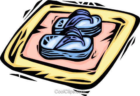sandals Royalty Free Vector Clip Art illustration vc064047
