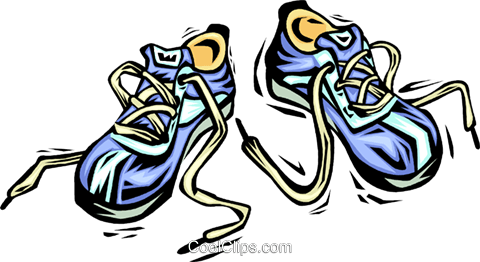 running shoes Royalty Free Vector Clip Art illustration vc064048