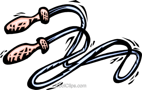 skipping rope Royalty Free Vector Clip Art illustration vc064053