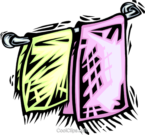 Towels Royalty Free Vector Clip Art illustration vc064063