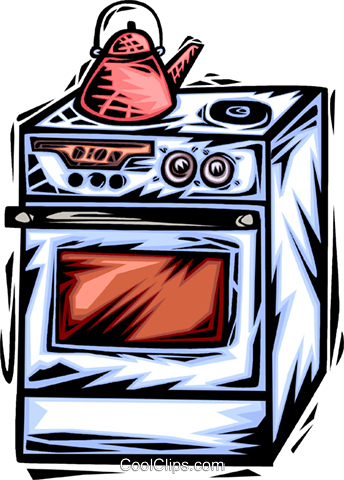 Electric Ovens Royalty Free Vector Clip Art illustration vc064065