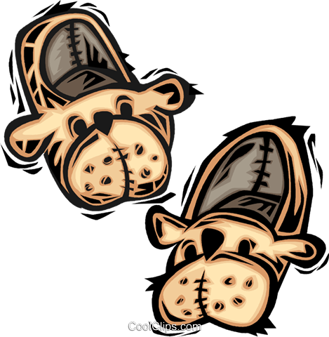 slippers Royalty Free Vector Clip Art illustration vc064068