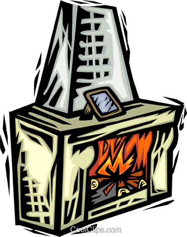 Fireplace Royalty Free Vector Clip Art illustration vc064073