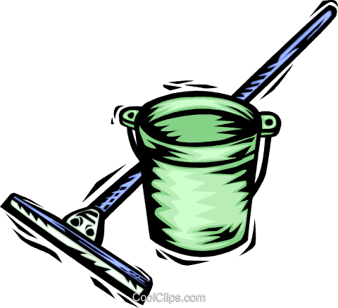 Mops and Pails Royalty Free Vector Clip Art illustration vc064075