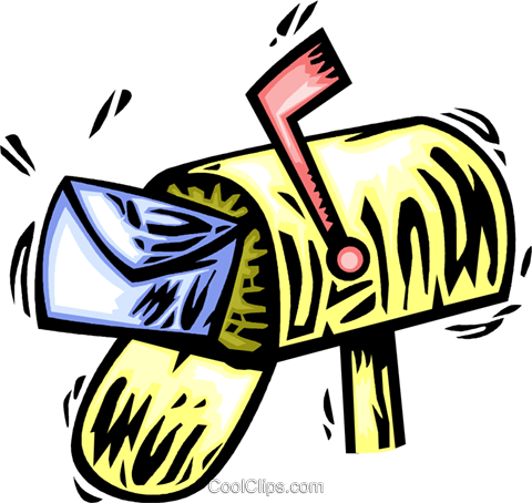 Mailboxes Royalty Free Vector Clip Art illustration vc064081