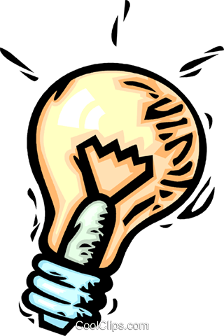 Light bulbs Royalty Free Vector Clip Art illustration vc064084
