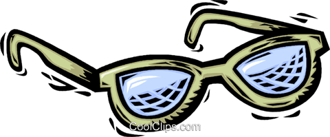 Glasses and Eyeglasses Royalty Free Vector Clip Art illustration vc064101