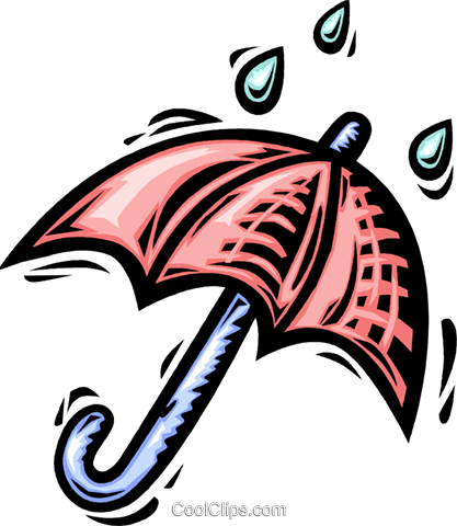 Umbrellas Royalty Free Vector Clip Art illustration vc064102