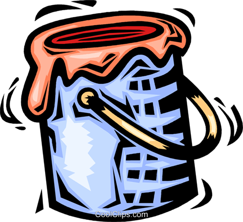 Paint Cans Royalty Free Vector Clip Art illustration vc064104