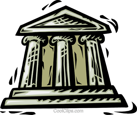 Banks Royalty Free Vector Clip Art illustration vc064109