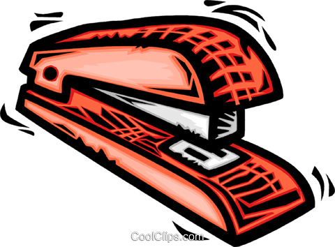 Staplers Royalty Free Vector Clip Art illustration vc064110
