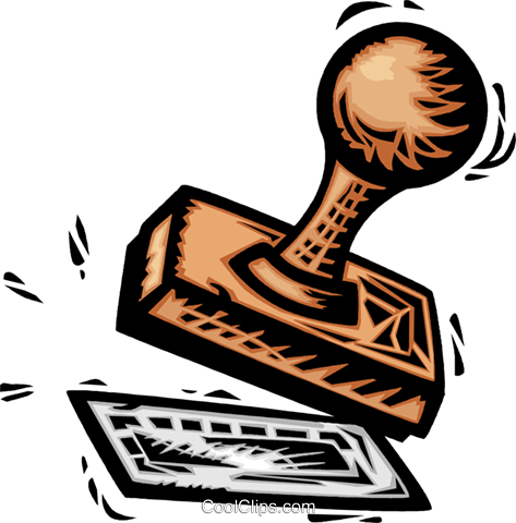 Rubber stamp Royalty Free Vector Clip Art illustration vc064112