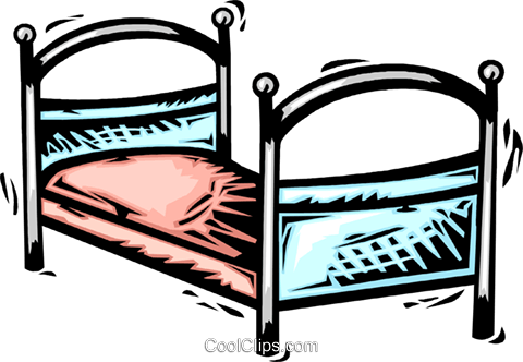 Beds Royalty Free Vector Clip Art illustration vc064120