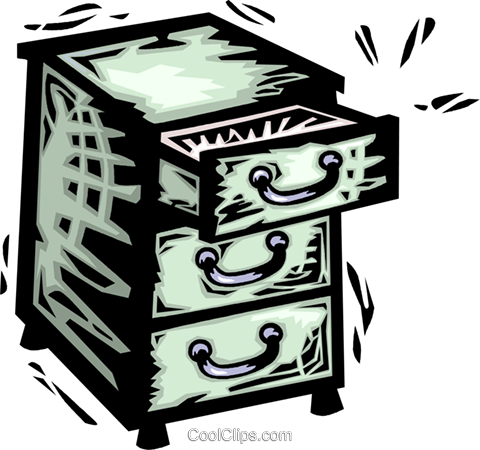 Drawers and Cabinets Royalty Free Vector Clip Art illustration vc064126