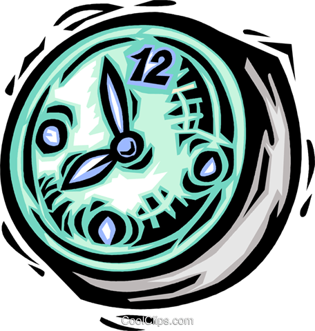 Wall Clocks Royalty Free Vector Clip Art illustration vc064137