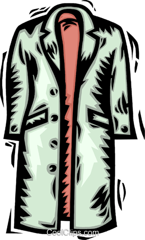 fall jacket Royalty Free Vector Clip Art illustration vc064138