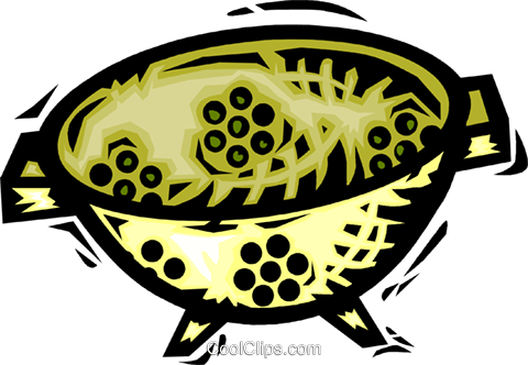 Sieves and Sifters Royalty Free Vector Clip Art illustration vc064140