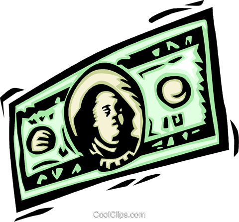 Dollars Royalty Free Vector Clip Art illustration vc064144