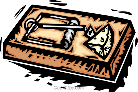 mousetrap Royalty Free Vector Clip Art illustration vc064149