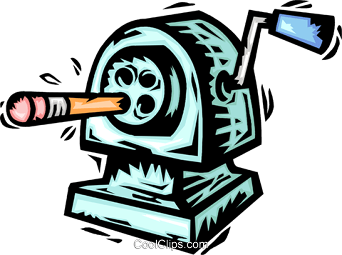 Pencil Sharpeners Royalty Free Vector Clip Art illustration vc064151