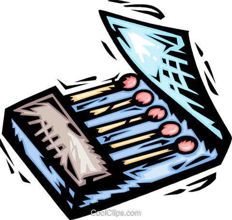 matches Royalty Free Vector Clip Art illustration vc064167