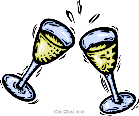 Champagne Royalty Free Vector Clip Art illustration vc064171