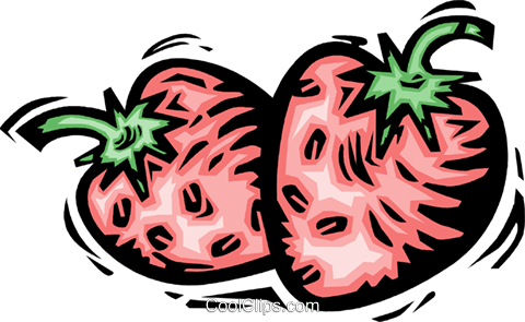 Strawberries Royalty Free Vector Clip Art illustration vc064174