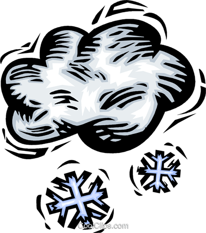 Snow clouds Royalty Free Vector Clip Art illustration vc064177