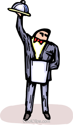 waiter Royalty Free Vector Clip Art illustration vc064198