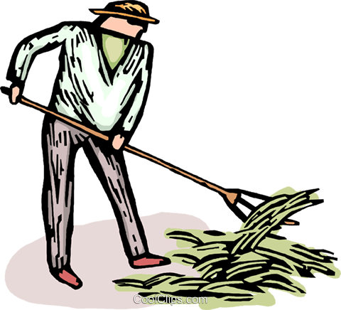 farmer Royalty Free Vector Clip Art illustration vc064215