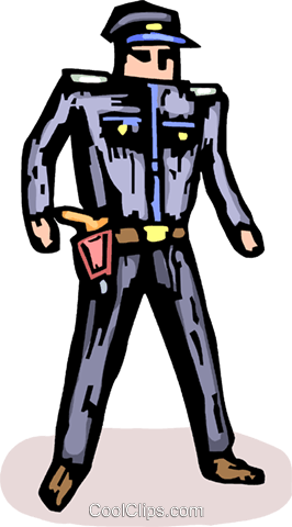 police officer Royalty Free Vector Clip Art illustration vc064216