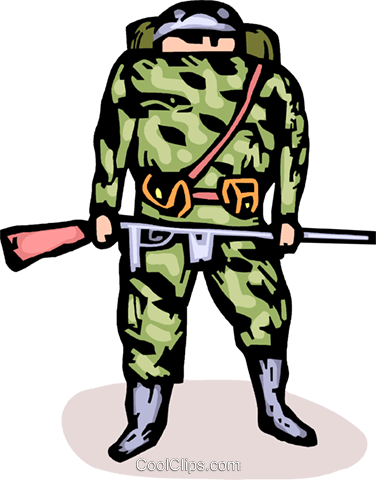 soldier Royalty Free Vector Clip Art illustration vc064221