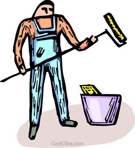 professional painter Royalty Free Vector Clip Art illustration vc064228