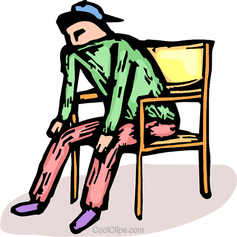 person sitting in a chair Royalty Free Vector Clip Art illustration vc064237
