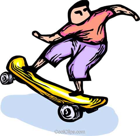 skateboarder Royalty Free Vector Clip Art illustration vc064270