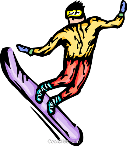 snowboarder Royalty Free Vector Clip Art illustration vc064286