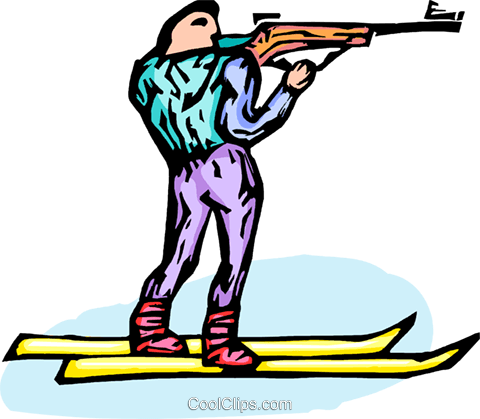biathlete Royalty Free Vector Clip Art illustration vc064287