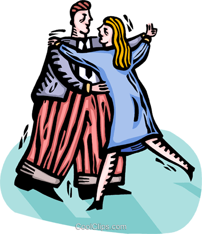 couple dancing Royalty Free Vector Clip Art illustration vc064310