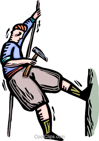 rock climber Royalty Free Vector Clip Art illustration vc064339